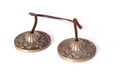 西藏礼节tingsha响铃 免版税库存图片