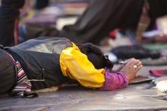 西藏祷告 免版税库存照片