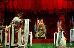 西藏种族舞蹈演员 库存图片