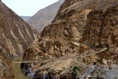 西藏美丽的桥梁 免版税库存图片
