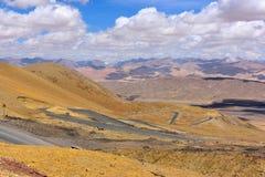 西藏美丽的路 库存照片