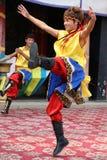 西藏舞蹈家 免版税库存图片