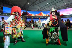 西藏衣物显示 库存照片