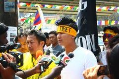 在Oo的西藏起义日周年纪念庆祝 免版税库存图片