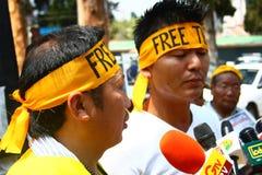 在Oo的西藏起义日周年纪念庆祝 图库摄影
