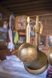 西藏铜瓢戽水者 库存照片