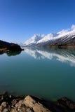 西藏雪山的Ranwu湖 免版税库存图片