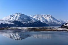 西藏雪山的Ranwu湖 图库摄影