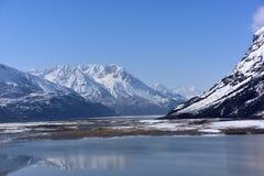 西藏雪山的Ranwu湖 库存图片