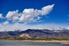 西藏雪湖 库存图片