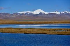 西藏雪湖 图库摄影