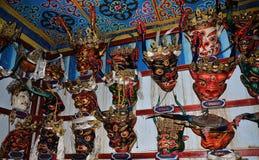 西藏面具室 库存照片