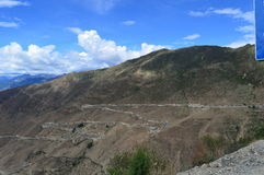 西藏风景这恼怒的河弯72 免版税库存图片