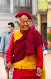 西藏香客在尼泊尔 库存照片