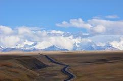 西藏高速公路 库存照片