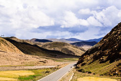 西藏高速公路 免版税库存图片