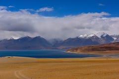 西藏登上naimonanyi和湖Manasarovar 库存照片