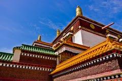 西藏建筑学,拉卜楞喇嘛寺院 库存照片