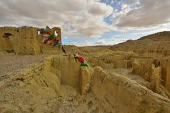 西藏guge朝代废墟 免版税库存照片