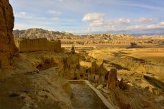 西藏guge朝代废墟 库存照片