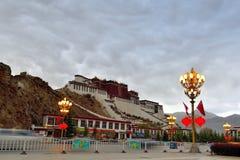西藏potala拉萨 免版税库存照片