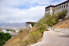 西藏potala拉萨 库存照片