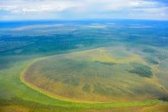 西西伯利亚的湖和沼泽 免版税库存图片