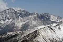 西西藏的山 免版税库存图片