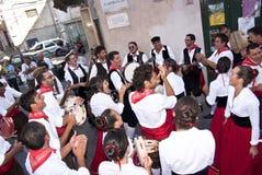 西西里人民间generosa组的polizzi 免版税库存照片