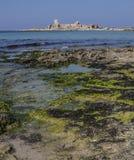 西西里人海废墟 库存照片