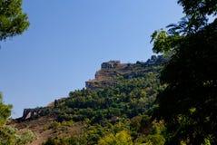 西西里人的岩石风景,意大利 免版税图库摄影