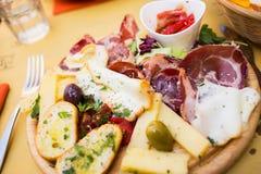 西西里人的开胃小菜 免版税图库摄影