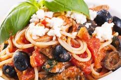 西西里人的意大利面食 免版税图库摄影