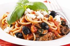 西西里人的意大利面食 库存图片