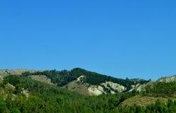 西西里人的木头的看法,卡尔塔尼塞塔,意大利,欧洲 免版税库存照片