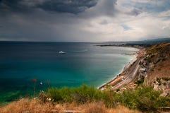 西西里人的海景 库存图片