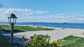 西西里人的海滩视图在春天 库存图片
