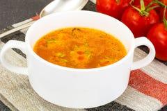 西西里人的蕃茄汤 全国意大利烹调 库存图片