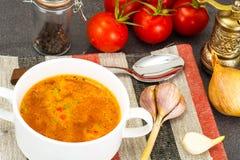 西西里人的蕃茄汤 全国意大利烹调 库存照片