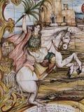 西西里人的陶瓷砖 库存照片