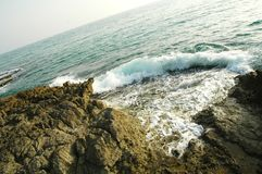 西西里人的coast6 库存照片