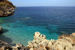 西西里人美好的海岸线 免版税图库摄影