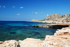 西西里人蓝色的海岸 免版税库存图片