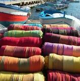 西西里人3种五颜六色的织品 免版税库存图片