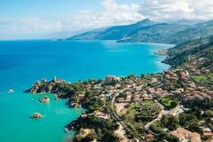 西西里岛海岸 免版税库存照片