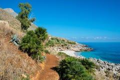 西西里岛海岸 库存照片