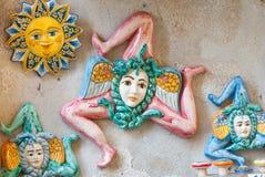 从西西里岛的纪念品 免版税库存照片