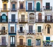 从西西里岛的Windows 免版税图库摄影