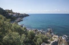 西西里岛,海视图 库存照片