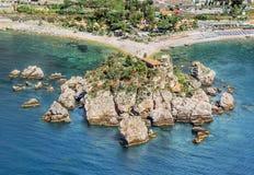 西西里岛, Isola Bella, Giardini纳克索斯 免版税库存照片